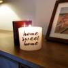 Otthon, édes otthon alkalmi üveges gyertya