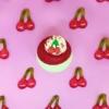 Cseresznye fagyi fürdőbomba
