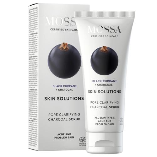 Skin Solution Pórustisztító arcradír aktív szénnel